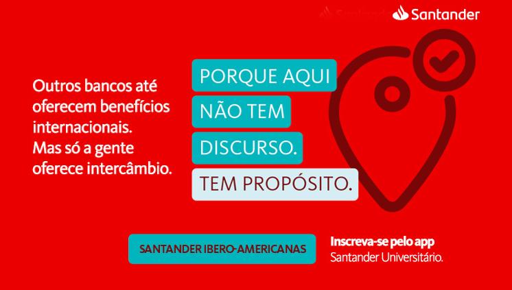 Abertas as inscrições para o Santander Universidades Bolsas Ibero-Americanas 2019