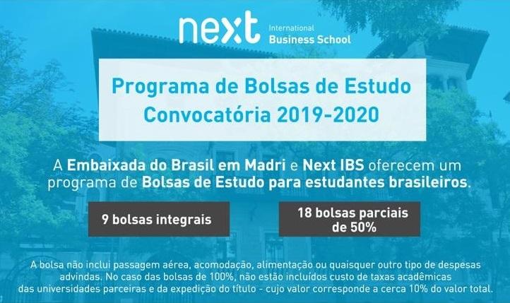 OPORTUNIDADE DE BOLSAS DE MESTRADO NA ESPANHA